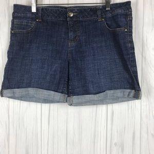 Celebrity Pink Denim Cuff Shorts Size 13 Juniors